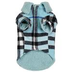 View Image 2 of Zack and Zoey Elements Cuddle Plaid Dog Coat - Blue