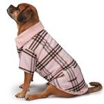 View Image 3 of Zack and Zoey Elements Cuddle Plaid Dog Coat - Pink