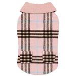 View Image 1 of Zack and Zoey Elements Cuddle Plaid Dog Coat - Pink