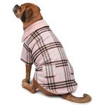 View Image 4 of Zack and Zoey Elements Cuddle Plaid Dog Coat - Pink