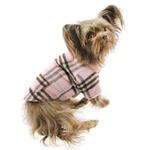 View Image 6 of Zack and Zoey Elements Cuddle Plaid Dog Coat - Pink