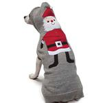 View Image 3 of Zack and Zoey Elements Holiday Santa Dog Sweater