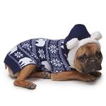 View Image 5 of Zack and Zoey Elements Polar Bear Hooded Dog Sweater