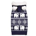 View Image 1 of Zack and Zoey Elements Polar Bear Hooded Dog Sweater