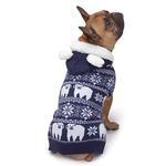 View Image 4 of Zack and Zoey Elements Polar Bear Hooded Dog Sweater