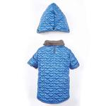 View Image 3 of Zack and Zoey Elements Quilted Hearts Dog Jacket - Blue
