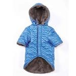 View Image 2 of Zack and Zoey Elements Quilted Hearts Dog Jacket - Blue