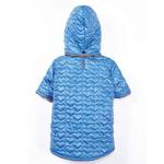 View Image 4 of Zack and Zoey Elements Quilted Hearts Dog Jacket - Blue