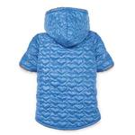 View Image 1 of Zack and Zoey Elements Quilted Hearts Dog Jacket - Blue
