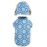 View Image 4 of Zack and Zoey Elements Reversible Thermal Dog Parka - Blue