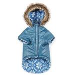 View Image 3 of Zack and Zoey Elements Reversible Thermal Dog Parka - Blue