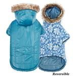 View Image 1 of Zack and Zoey Elements Reversible Thermal Dog Parka - Blue