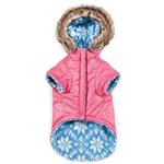 View Image 5 of Zack and Zoey Elements Reversible Thermal Dog Parka - Pink