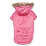 View Image 2 of Zack and Zoey Elements Reversible Thermal Dog Parka - Pink