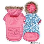 View Image 1 of Zack and Zoey Elements Reversible Thermal Dog Parka - Pink