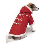 View Image 1 of Zack and Zoey Elements Shearling Dog Coat - Burgundy