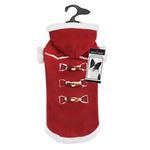 View Image 2 of Zack and Zoey Elements Shearling Dog Coat - Burgundy