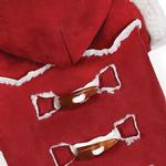 View Image 3 of Zack and Zoey Elements Shearling Dog Coat - Burgundy