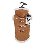 View Image 2 of Zack and Zoey Elements Shearling Dog Coat - Chestnut