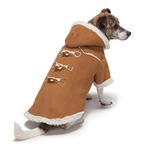 View Image 1 of Zack and Zoey Elements Shearling Dog Coat - Chestnut