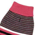 View Image 5 of Zack and Zoey Elements Speckle Striped Dog Sweater - Pink and Black