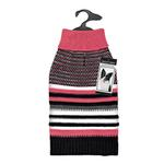 View Image 1 of Zack and Zoey Elements Speckle Striped Dog Sweater - Pink and Black
