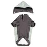 View Image 2 of Zack and Zoey Elements Textured Stretch Dog Hoodie - Gray