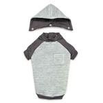 View Image 3 of Zack and Zoey Elements Textured Stretch Dog Hoodie - Gray