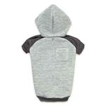 View Image 4 of Zack and Zoey Elements Textured Stretch Dog Hoodie - Gray