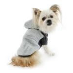 View Image 5 of Zack and Zoey Elements Textured Stretch Dog Hoodie - Gray