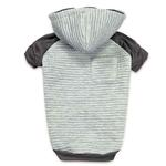 View Image 1 of Zack and Zoey Elements Textured Stretch Dog Hoodie - Gray