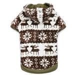 View Image 1 of Zack and Zoey Forest Friends Reversible Dog Hoodie - Green
