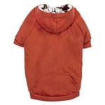 View Image 3 of Zack and Zoey Forest Friends Reversible Dog Hoodie - Orange