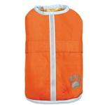 View Image 1 of Zack and Zoey Hairy Yarn Reversible Thermal Nor'Easter Dog Coat - Orange