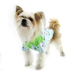 View Image 4 of Zack and Zoey Happy Veggies Camp Dog Shirt - Green Trim