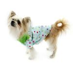 View Image 3 of Zack and Zoey Happy Veggies Camp Dog Shirt - Green Trim