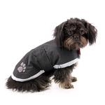 View Image 3 of Zack and Zoey Nor'easter Dog Blanket Coat - Black