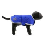 View Image 2 of Zack and Zoey Nor'easter Dog Blanket Coat - Blue