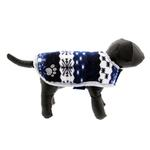 View Image 3 of Zack and Zoey Nor'easter Dog Blanket Coat - Blue