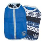 View Image 1 of Zack and Zoey Nor'easter Dog Blanket Coat - Blue