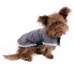 View Image 3 of Zack and Zoey Nor'easter Dog Blanket Coat - Gray