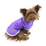 View Image 2 of Zack and Zoey Nor'easter Dog Blanket Coat - Purple