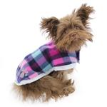 View Image 3 of Zack and Zoey Nor'easter Dog Blanket Coat - Purple