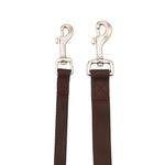 View Image 2 of Zack and Zoey Nylon Dog Leash - Chocolate