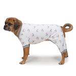View Image 2 of Zack and Zoey Dog Pajamas - Silver with Polka Dot Elephants