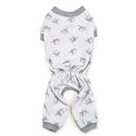 View Image 1 of Zack and Zoey Dog Pajamas - Silver with Polka Dot Elephants