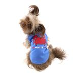 View Image 2 of Zack & Zoey Red, White, 'N' Cute UPF 40 Dog Tank - Blue