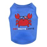 View Image 1 of Zack & Zoey Red, White, 'N' Cute UPF 40 Dog Tank - Blue