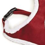 View Image 2 of Zack and Zoey Shearling Dog Harness - Burgundy