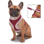 View Image 3 of Zack and Zoey Shearling Dog Harness - Burgundy